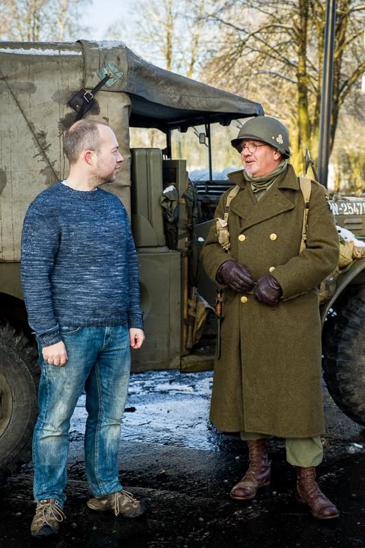 Trooper design photo shooting in Bastogne, Belgium