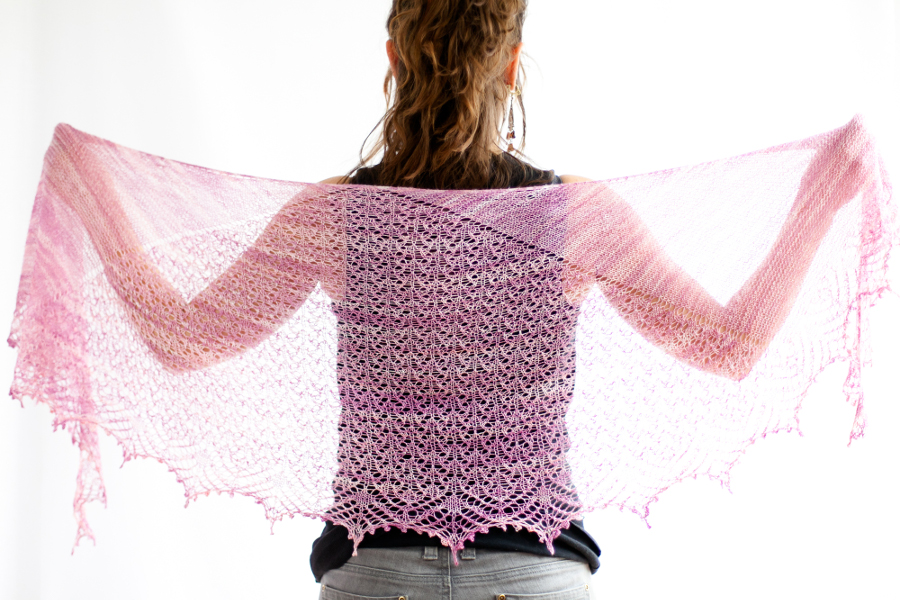 Hizakura Shawl by ChristalLK