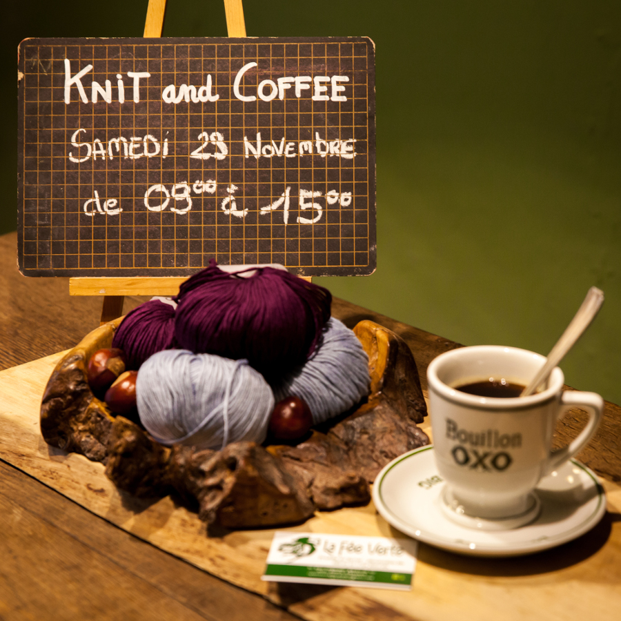 Teaser for Knit and Coffee at Fée Verte in Anlier On 29 November 2014